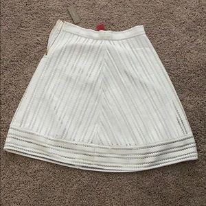 White a line skirt JCREW